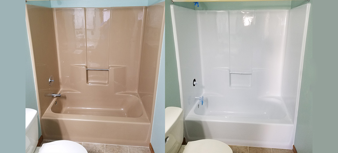 Exceptionnel Refinished Fiberglass Shower Before And After